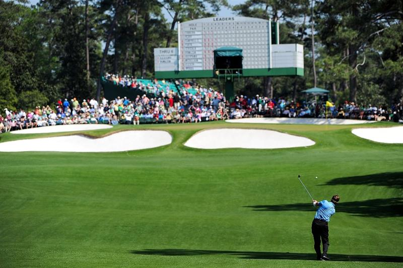 AUGUSTA, GA - APRIL 12:  Todd Hamilton plays a shot to the seventh green during the final round of the 2009 Masters Tournament at Augusta National Golf Club on April 12, 2009 in Augusta, Georgia.  (Photo by Harry How/Getty Images)