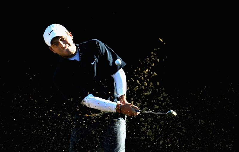 CRANS, SWITZERLAND - SEPTEMBER 05:  Fancesco Molinari of Italy on the par five 15th hole during the second round the Omega European Masters at the Golf Club Crans-sur-Sierre on September 5, 2008 in Crans, Switzerland.  (Photo by Ross Kinnaird/Getty Images)