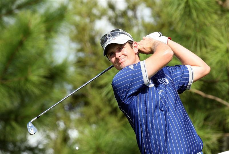 ORLANDO, FL - MARCH 16: Justin Rose of England and Lake Nona at the 17th hole during the first day of the 2009 Tavistock Cup at the Lake Nona Golf and Country Club, on March 16, 2009 in Orlando, Florida  (Photo by David Cannon/Getty Images)