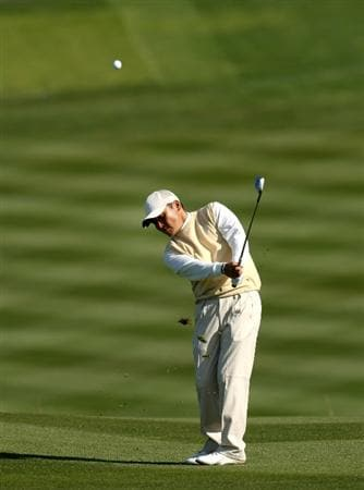 PEBBLE BEACH, CA - FEBRUARY 12: Shigeki Maruyama of Japan hits his third shot on the sixth hole during the first round of the AT&T Pebble Beach National Pro-Am at Pebble Beach Golf Links on February 12, 2009 in Pebble Beach, California.  (Photo by Stephen Dunn/Getty Images)