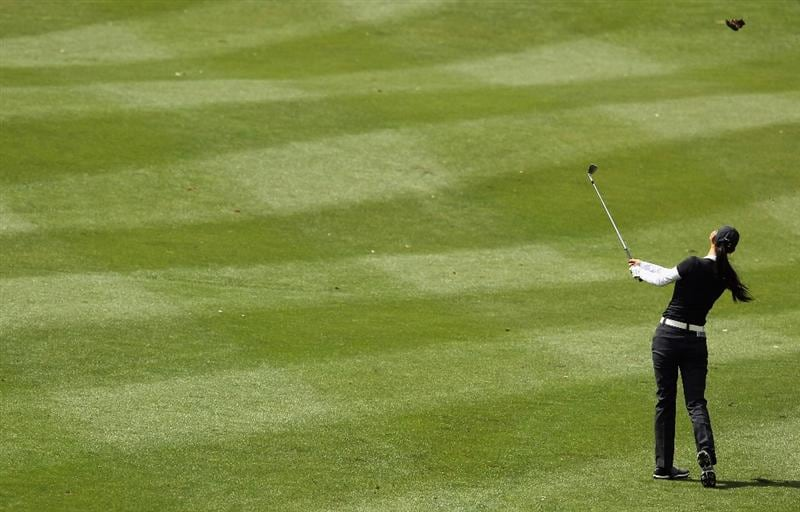 CITY OF INDUSTRY, CA - MARCH 25:  Michelle Wie hits a shot to the 14th green during the second round of the Kia Classic on March 25, 2011 at the Industry Hills Golf Club in the City of Industry, California.  (Photo by Scott Halleran/Getty Images)