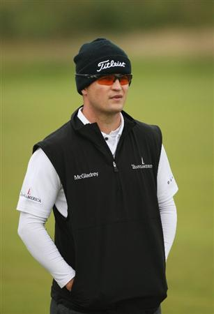 TURNBERRY, SCOTLAND - JULY 17:  Zach Johnson of USA looks on during round two of the 138th Open Championship on the Ailsa Course, Turnberry Golf Club on July 17, 2009 in Turnberry, Scotland.  (Photo by Warren Little/Getty Images)