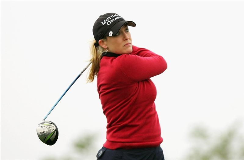 INCHEON, SOUTH KOREA - NOVEMBER 01:  Cristie Kerr of United States hits a teeshot on the the 2th hole during final round of Hana Bank Kolon Championship at Sky 72 Golf Club on November 1, 2009 in Incheon, South Korea.  (Photo by Chung Sung-Jun/Getty Images)