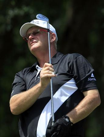 JERUDONG, BRUNEI DARUSSALAM - MARCH 06:  Sandy Lyle of Scotland in action during the second round of the Aberdeen Brunei Senior Masters presented by the Stapleford Forum played at the Empire Hotel and Country Club on March 6, 2010 in Jerudong, Brunei Darussalam.  (Photo by Phil Inglis/Getty Images)
