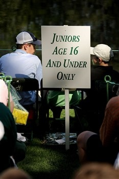 AUGUSTA, GA - APRIL 09:  Signs and ropes section off an area for kids during the Par 3 Contest prior to the start of the 2008 Masters Tournament at Augusta National Golf Club on April 9, 2008 in Augusta, Georgia.  (Photo by Harry How/Getty Images)