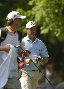 Jerry Kelly during the third round of the U.S. Bank Championship in Milwaukee at Brown Deer Park Golf Course in Milwaukee, Wisconsin, on July 29, 2006.Photo by Steve Levin/WireImage.com