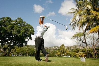 Tadd Fujikawa hits a drive during practice at the Sony Open in Hawaii held at Waialae Country Club on January 9, 2008 in Honolulu, Hawaii. PGA TOUR - 2008 Sony Open in Hawaii - Pro-AmPhoto by Stan Badz/PGA TOUR/WireImage.com
