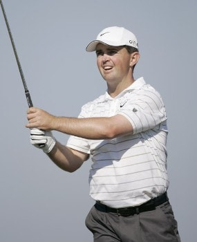 Greg Chalmers during the final round of the Nationwide Tour Championship held  on the Senator course at Capitol Hill GC in Prattville, Alabama on Sunday, October 30, 2005.Photo by Sam Greenwood/WireImage.com