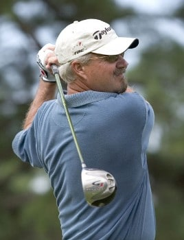 Gary McCord tees off on the second hole during the second round of the 2005 SAS Championship on Saturday, October 1, 2005 at Prestonwood Country Club in Cary, North Carolina.Photo by Grant Halverson/WireImage.com