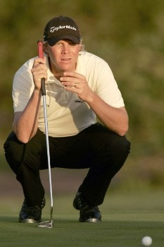 Mattias Eliasson during the second round of the 2005 Mallorca Classic at the Pula Golf Club in Mallorca, Spain on October 21, 2005.Photo by Pete Fontaine/WireImage.com
