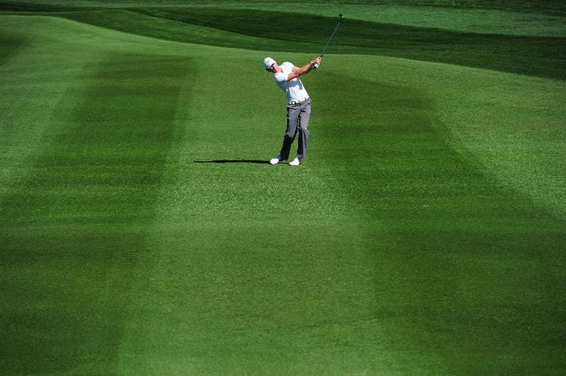 MARANA, AZ - FEBRUARY 16:  Chris Wood of England plays a shot during the second practice round prior to the start of the Accenture Match Play Championship at the Ritz-Carlton Golf Club on February 16, 2010 in Marana, Arizona.  (Photo by Stuart Franklin/Getty Images)