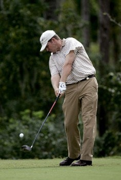 Jason Bohn during the second round of the Funai Classic held on the Palm and Magnolia courses at Walt Disney World Resort on Friday, October 21, 2005.Photo by Sam Greenwood/WireImage.com