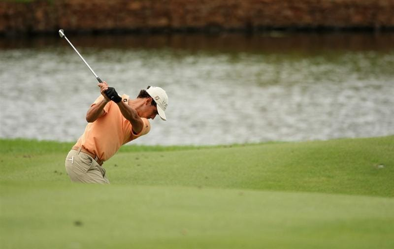 MALELANE, SOUTH AFRICA - DECEMBER 11:  Rafael Cabrera Bello of Spain plays his third shot into the the 18th green during the third round of the Alfred Dunhill Championship at Leopard Creek Country Club on December 12, 2008 in Malelane, South Africa.  (Photo by Warren Little/Getty Images)