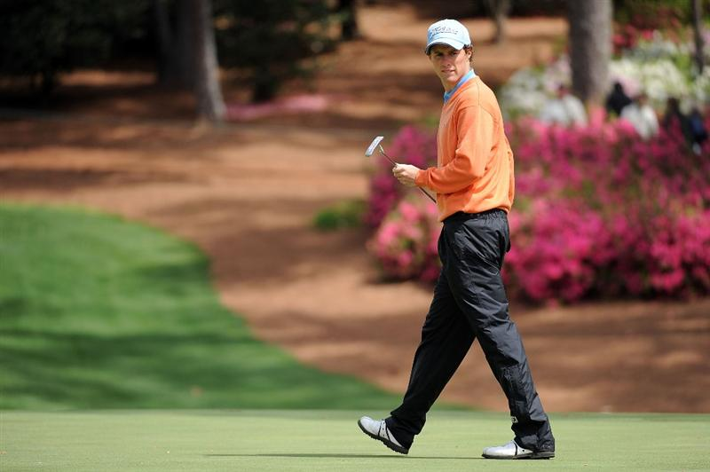 AUGUSTA, GA - APRIL 07:  Amateur Reinier Saxton of Holland walks across a green during a practice round prior to the 2009 Masters Tournament at Augusta National Golf Club on April 7, 2009 in Augusta, Georgia.  (Photo by Harry How/Getty Images)
