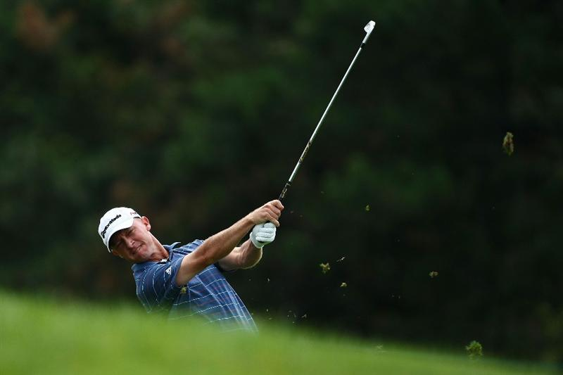 OAKVILLE, ONTARIO - JULY 27:  Nathan Green of Australia plays his second shot on the fifth hole during the final round of the RBC Canadian Open at Glen Abbey Golf Club on July 27, 2009 in Oakville, Ontario, Canada.  (Photo by Chris McGrath/Getty Images)