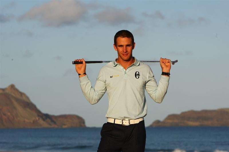 MADEIRA, PORTUGAL - MARCH 22:  Estanislao Goya of Argentina poses for a portrait after winning the Madeira Islands Open BPI at the Porto Santo Golfe Club on March 22, 2009 in Porto Santo, Portugal.  (Photo by Michael Steele/Getty Images)