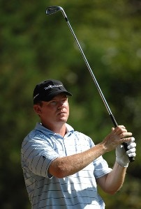 Shaun Micheel tees off of the 11th hole during the third round of the Viking Classic at Annandale Golf Club on September 29, 2007 in Madison, Mississippi. PGA TOUR - 2007 Viking Classic - Third RoundPhoto by Marc Feldman/WireImage.com