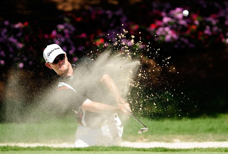 PONTE VEDRA BEACH, FL - MAY 07:  Rory Sabbatini of South Africa plays from a bunker on the 14th hole during the second round of THE PLAYERS Championship held at THE PLAYERS Stadium course at TPC Sawgrass on May 7, 2010 in Ponte Vedra Beach, Florida.  (Photo by Sam Greenwood/Getty Images)
