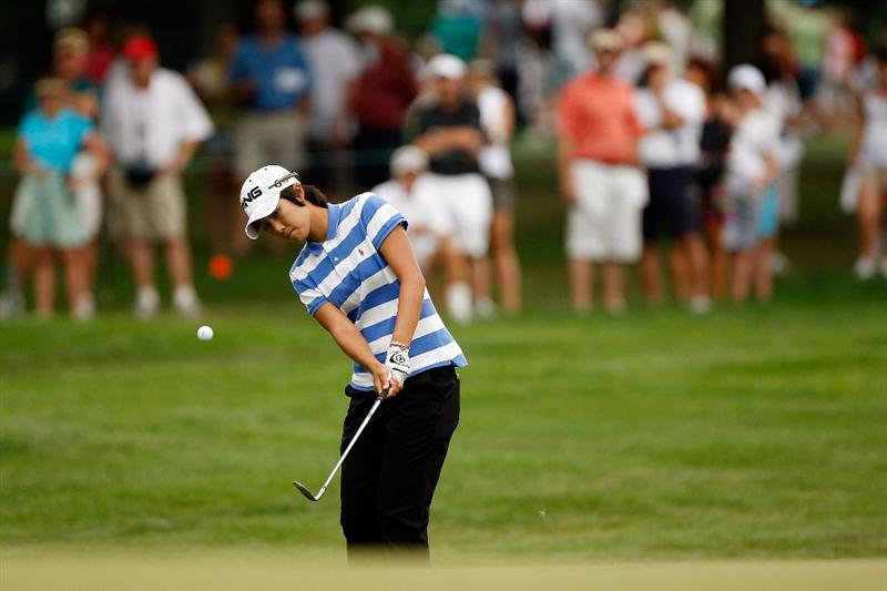 BETHLEHEM, PA - JULY 11:  Song-Hee Kim of South Korea chips onto the green on the 7th hole during the third round of the 2009 U.S. Women's Open at Saucon Valley Country Club on July 11, 2009 in Bethlehem, Pennsylvania.  (Photo by Chris Graythen/Getty Images)