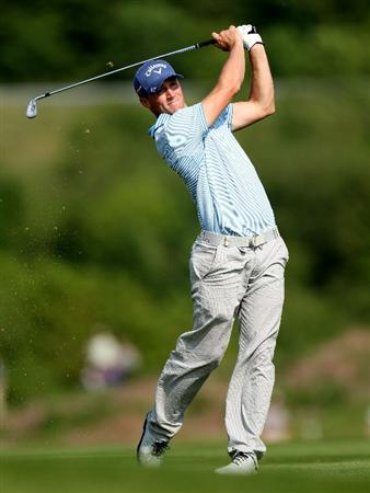 NEWPORT, WALES - JUNE 04: Alexander Noren of Sweden during the second round of the Celtic Manor Wales Open on the 2010 Course at the Celtic Manor Resort on June 4, 2010 in Newport, Wales.  (Photo by Ross Kinnaird/Getty Images)