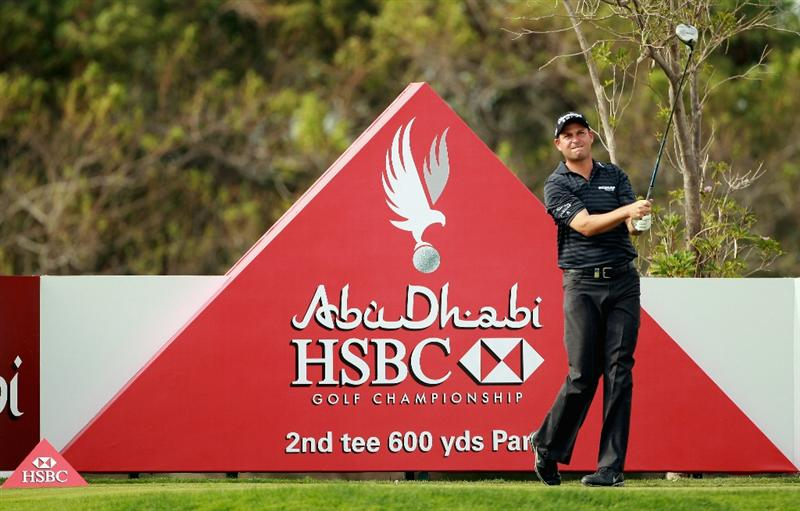 ABU DHABI, UNITED ARAB EMIRATES - JANUARY 19:  David Howell of England in action during the Pro Am prior to the start of The Abu Dhabi HSBC Golf Championship at Abu Dhabi Golf Club on on January 19, 2011 in Abu Dhabi, United Arab Emirates.  (Photo by Andrew Redington/Getty Images)