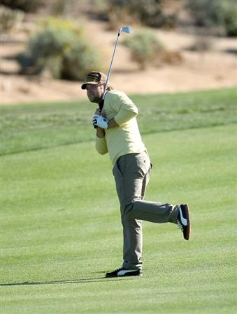 SCOTTSDALE, AZ - JANUARY 30:  Ryan Moore watches his second shot on the third hole during the second round of the FBR Open on January 30, 2009 at TPC Scottsdale in Scottsdale, Arizona.  (Photo by Stephen Dunn/Getty Images)