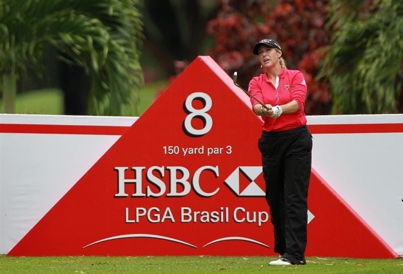 RIO DE JANEIRO, BRAZIL - MAY 28:  Cristie Kerr of the USA watches her tee shot on the eighth hole during the first round of the HSBC LPGA Brazil Cup at the Itanhanga Golf Club on May 28, 2011 in Rio de Janeiro, Brazil.  (Photo by Scott Halleran/Getty Images)