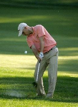 PARAMUS, NJ - AUGUST 21: Ben Crane plays a shot on the 4th hole during the first round of The Barclays at Ridgewood Country Club on August 21, 2008 in Paramus, New Jersey.  (Photo by Sam Greenwood/Getty Images)