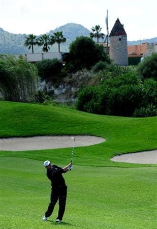 MALLORCA, SPAIN - MAY 15:  Jamie McLeary of Scotland plays his approach shot on the 15th hole during the third round of the Open Cala Millor Mallorca at Pula golf club on May 15, 2010 in Mallorca, Spain.  (Photo by Stuart Franklin/Getty Images)