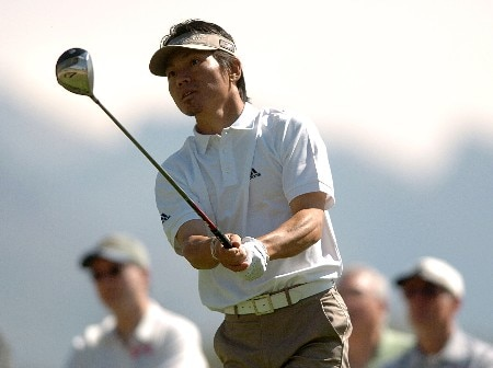 Hidemichi Tanaka in action during the third round of the PGA's Tour 2005 Chrysler Classic of Tucson at the Omni Tucson National Golf Resort & Spa February 26, 2005 in Tuscon, Arizona.