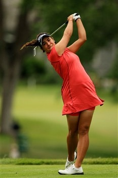 EDINA, MN - JUNE 26:  Amateur Maria Jose Uribe of Colombia watches her tee shot on the eigth hole during the first round of the 2008 U.S. Women's Open at Interlachen Country Club on June 26, 2008 in Edina, Minnesota.  (Photo by Travis Lindquist/Getty Images)