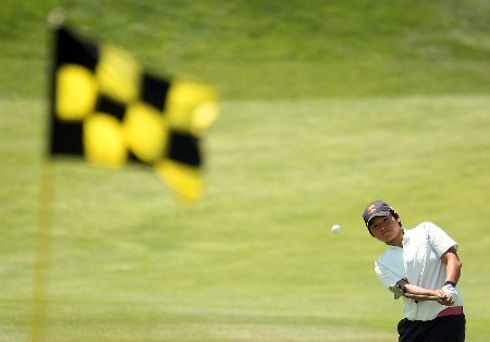 HUIXQUILUCAN, MEXICO - MARCH 15:  Yani Tseng of Taiwan hits her approach shot on the 12th hole during the second round of the MasterCard Classic at Bosque Real Country Club on March 15, 2008 in Huixquilucan, Mexico.  (Photo by Scott Halleran/Getty Images)