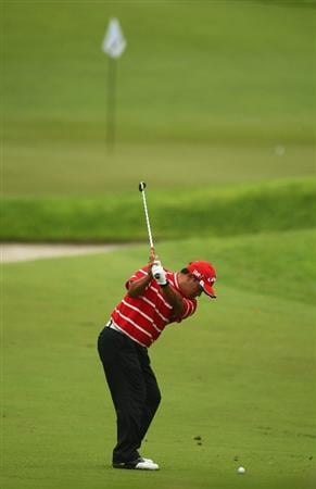 SINGAPORE - NOVEMBER 13:  Prayad Marksaeng of Thailand in action during the first round of the Barclays Singapore Open at Sentosa Golf Club on November 13, 2008 in Singapore.  (Photo by Ian Walton/Getty Images)
