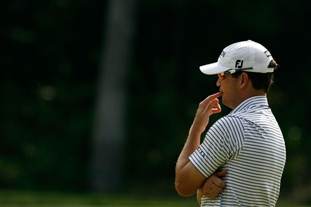 SILVIS, IL - JULY 11:  Zach Johnson waits on the 15th green during the second round of the 2008 John Deere Classic at TPC at Deere Run on Friday, July 11, 2008 in Silvis, Illinois.  (Photo by Kevin C. Cox/Getty Images)