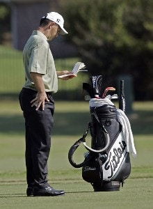 Greg Chalmers on the 10th fairway during the first round of the Southern Farm Bureau Classic at Annandale Golf Club in Madison, Mississippi, on September 28, 2006. Photo by Hunter Martin/WireImage.com