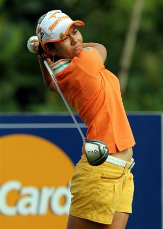 KUALA LUMPUR, MALAYSIA - OCTOBER 21:  Al Miyazato of Japan tees off on the 10th hole during the Sime Darby Pro-Am at the KLGCC Golf Course on October 21, 2010 in Kuala Lumpur, Malaysia.  (Photo by Stanley Chou/Getty Images)