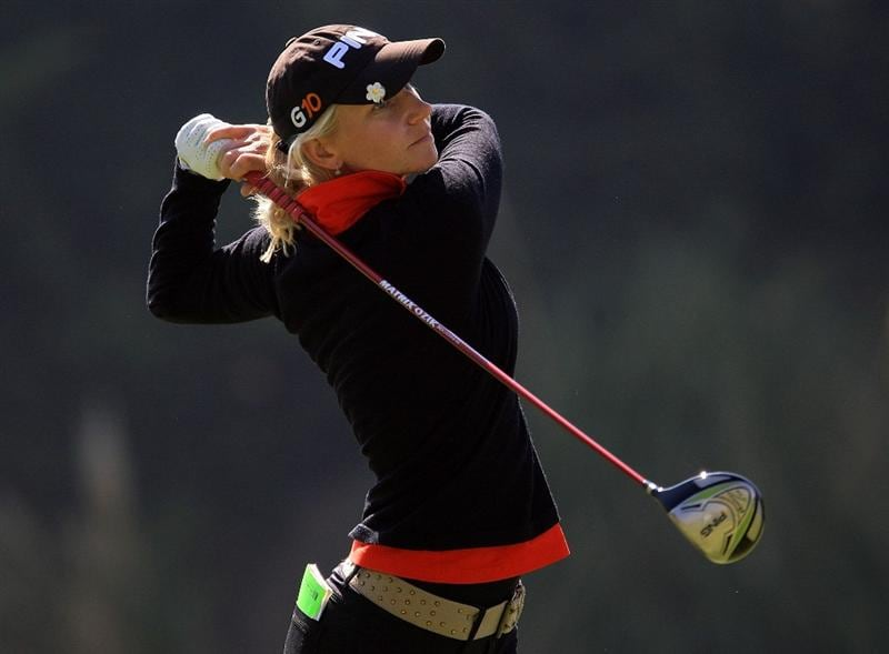 HUIXQUILUCAN, MEXICO - MARCH 20:  Louis Friberg of Sweden hits her tee shot on the sixth hole during the first round of the MasterCard Classic at the BosqueReal Country Club on March 20, 2009 in Huixquiucan, Mexico.  (Photo by Scott Halleran/Getty Images)