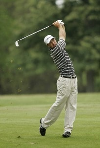 COLUMBUS, OH - JULY 15:  Chad Collins during the fourth round of the Nationwide Children's Hospital Invitational on the Scarlet Course at Ohio State University Golf Club in Columbus, Ohio on July 15, 2007. (Photo by Michael Cohen/WireImage)  *** Local Caption *** Chad Collins Nationwide Tour - 2007 Children's Hospital Invitational - Final RoundPhoto by Michael Cohen/WireImage)  *** Local Caption *** Chad Collins