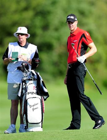 MALLORCA, SPAIN - MAY 16:  Stephan Gross Junior of Germany and caddie during the final round of the Open Cala Millor Mallorca at Pula golf club on May 16, 2010 in Mallorca, Spain.  (Photo by Stuart Franklin/Getty Images)