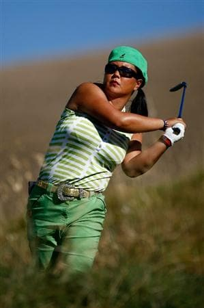 DANVILLE, CA - SEPTEMBER 25:  Christina Kim tees off on the 16th hole during the second round of the CVS/pharmacy LPGA Challenge at Blackhawk Country Club on September 25, 2009 in Danville, California.  (Photo by Jonathan Ferrey/Getty Images)