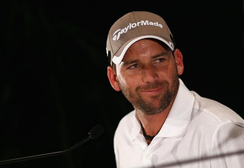 MELBOURNE, AUSTRALIA - NOVEMBER 09:  Sergio Garcia of Spain speaks during a press conference during day four of the Australian Masters at The Victoria Golf Club on November 9, 2010 in Melbourne, Australia.  (Photo by Ryan Pierse/Getty Images)