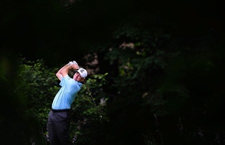 OAKVILLE, ON - JULY 24:  Steve Flesch makes a tee shot during the first round of the Canadian Open at the Glen Abbey Golf Club on July 24, 2008 in Oakville, Ontario.  (Photo by Robert Laberge/Getty Images)