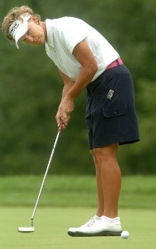 Tina Barrett in action during the second round of the LPGA's Wendy's Championship For Children at Tartan Fields Golf Club in Dublin, Ohio August 26, 2005.EPhoto by Steve Grayson/WireImage.com
