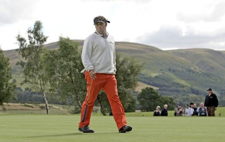 Emanuele Canonica on the 4th green during the 2005 Johnnie Walker Championship's Final Round on August 7, 2005 in Gleneages, Scotland.Photo by Thomas Main/WireImage.com