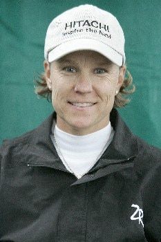 Tina Barrett of Scottsdale, Arizona before the first round of the 2005 ShopRite LPGA Classic at the Seaview Resort and Spa in Galloway, New Jersey on June 3, 2005.Photo by Jim Rogash/WireImage.com