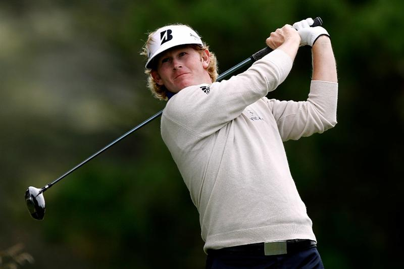 PEBBLE BEACH, CA - JUNE 20:  Brandt Snedeker hits his tee shot on the second hole during the final round of the 110th U.S. Open at Pebble Beach Golf Links on June 20, 2010 in Pebble Beach, California.  (Photo by Donald Miralle/Getty Images)