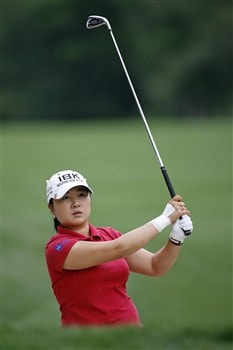 WILLIAMSBURG, VA - MAY 10: Jeong Jang of Korea hits her second shot on the 7th hole during the third round of the Michelob Ultra Open at Kingsmill Resort & Spa on May 10, 2008 in Williamsburg, Virginia. (Photo by Hunter Martin/Getty Images)