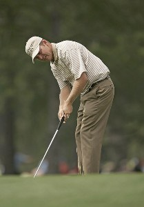 Jason Bohn during the second round of the 2006 Masters at the Augusta National Golf Club in Augusta, Georgia on April 7, 2006.Photo by Sam Greenwood/WireImage.com