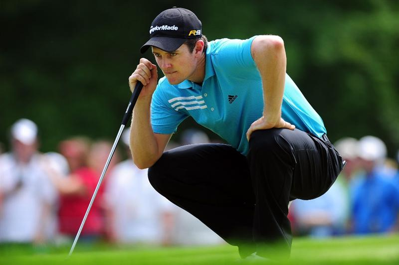 CHASKA, MN - AUGUST 13:  Justin Rose of England looks over the third green during the first round of the 91st PGA Championship at Hazeltine National Golf Club on August 13, 2009 in Chaska, Minnesota.  (Photo by Stuart Franklin/Getty Images)