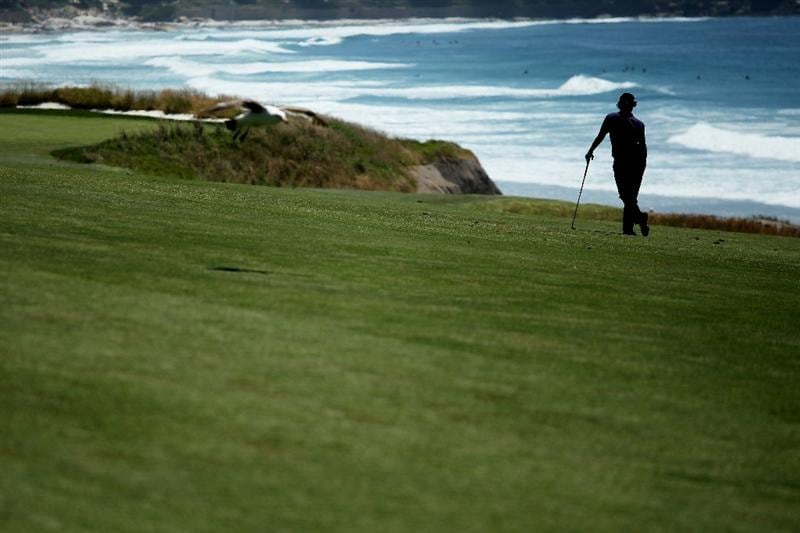 PEBBLE BEACH, CA - JUNE 16:  Rory McIlroy of Northern Ireland looks on during a practice round prior to the start of the 110th U.S. Open at Pebble Beach Golf Links on June 16, 2010 in Pebble Beach, California.  (Photo by Andrew Redington/Getty Images)